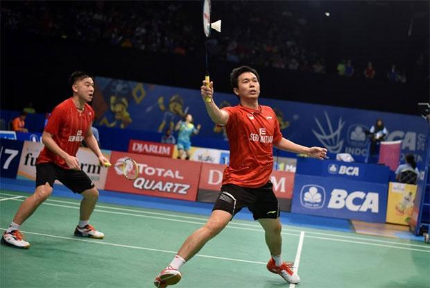 Hendra Setiawan/Tan Boon Heong will meet Takeshi Kamura/Keigo Sonoda for the first time in Australian Open final. (photo: AP)