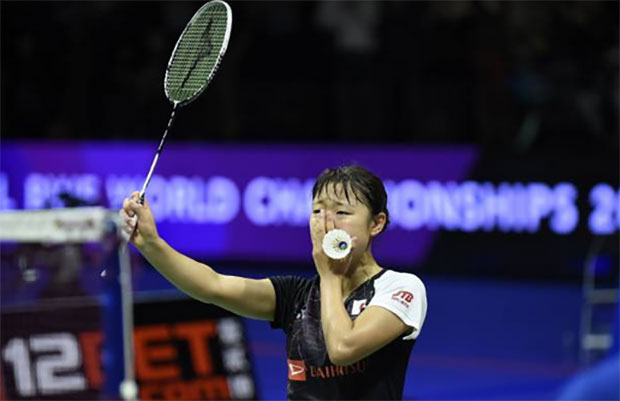 Nozomi Okuhara wins the 2017 World Championships. (photo: AP)