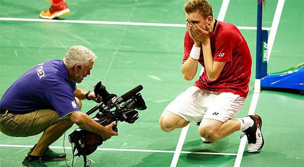 Congratulations to Viktor Axelsen for winning the 2017 World Championships. (photo: AP)