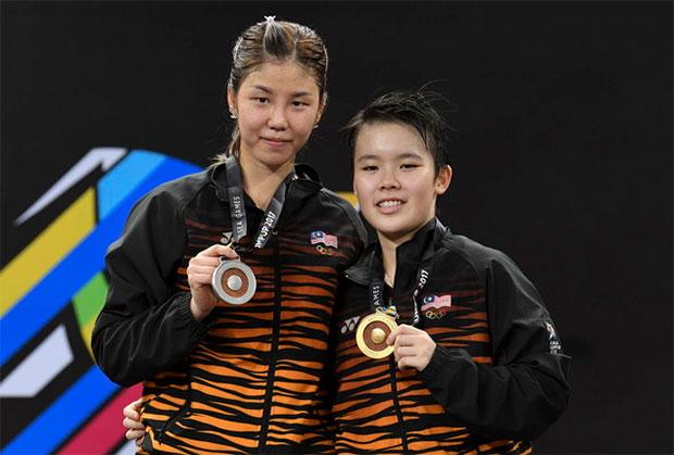 Goh Jin Wei and Soniia Cheah. (photo: AP)