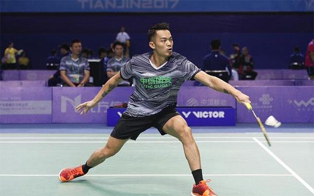 Lin Dan and Chen Long set up final clash at China National Games men's team event.