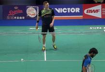 Viktor Axelsen loses to Kidambi Srikanth in 2017 Denmark Open quarter-finals.