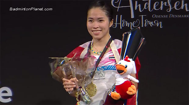 Congratulations to Ratchanok Intanon for winning the 2017 Denmark Open. (photo: AP)