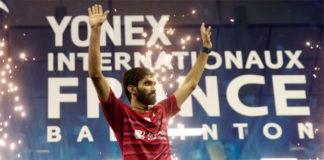 Kidambi Srikanth could reach World No. 2 in the BWF rankings next week following his French Open victory. (photo: AP)