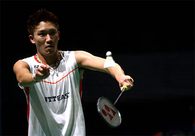 Kento Momota is slowly climbing the BWF rankings. (photo: AP)