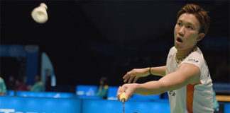 Kento Momota shows he's in strong form ahead of Macau Open final. (photo: AP)
