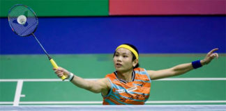 Tai Tzu Ying takes on P.V Sindhu in the 2017 Hong Kong final. (photo: AP)