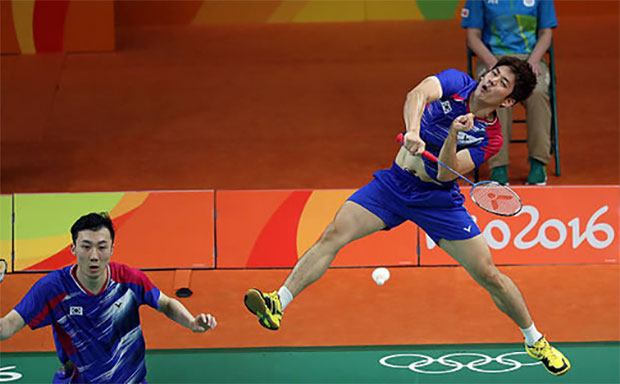 Lee Yong-Dae/Yoo Yeon-Seong still getting used to the international competition. (photo: AP)