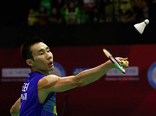 Lee Chong Wei too strong for Angus Ng Ka Long at the 2017 BWF Super Series Finals in Dubai. (photo: AP)