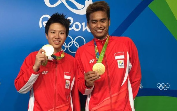Tontowi Ahmad/Liliyana Natsir are the most reliable mixed doubles pair for the Indonesian team. (photo: AP)