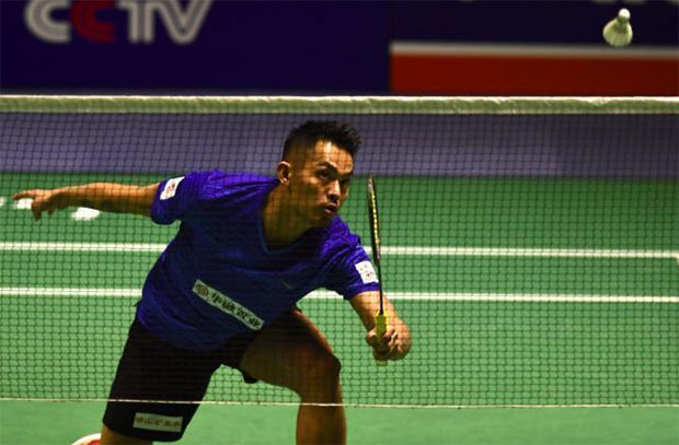 """Lin Dan: """"what is wrong with the China Badminton Super League?"""". (photo: AP)"""
