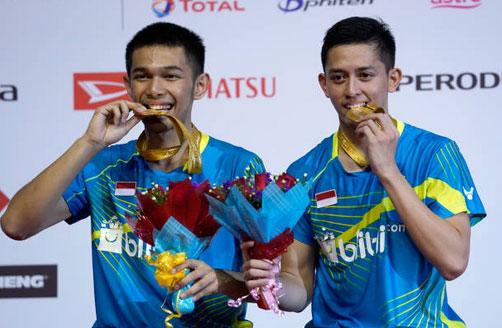 Fajar Alfian/Muhammad Rian Ardianto have huge potentials in men's doubles. (photo: AP)