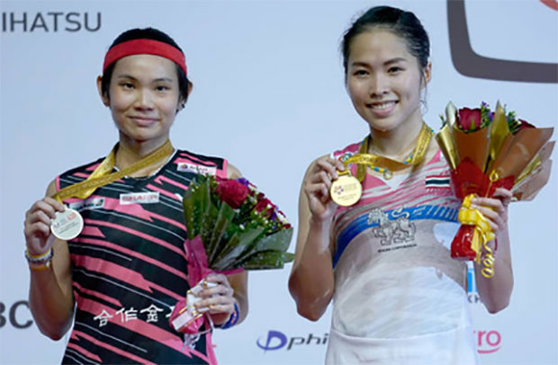 Ratchanok Intanon stuns Tai Tzu Ying to win the 2018 Malaysia Masters title. (photo: AP)