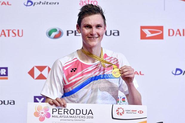 Viktor Axelsen is creating his own legacy in badminton. (photo: AP)