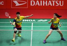 Goh Soon Huat/Shevon Jemie Lai have taken the upper hands against the higher ranked Tan Kian Meng/Lai Pei Jing. (photo: AP)