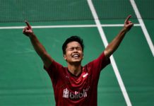 Anthony Sinisuka Ginting advances to the Indonesia Masters final. (photo: AP)