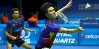 Chooi Kah Ming (left) /Low Juan Shen need to work harder to make the Malaysia Thomas Cup team. (photo: AP)