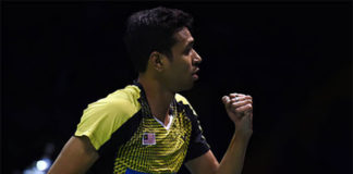 Iskandar Zulkarnain shows strong play at the India Open quarter-finals. (photo:AP)