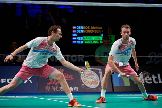 Mathias Boe and Carsten Mogensen are going strong in Swiss Open. (photo: AP)