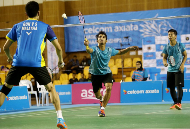 Mohamad Arif Abdul Latif/Nur Mohd Azriyn Ayub are showing a lot of potentials in men's doubles. (photo: AP)
