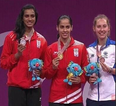 Congratulations to Saina Nehwal and PV Sindhu for winning gold and silver medal at the 2018 Commonwealth Games in Gold Coast, Australia