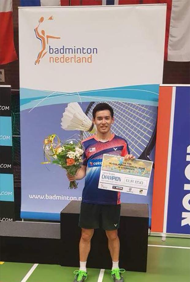 Cheam June Wei wins the 2018 Victor Dutch International.