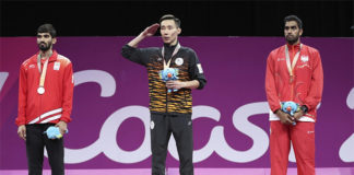 Lee Chong Wei fights hard to win the 2018 Commonwealth Games in Gold Coast gold medal. (photo: AP)