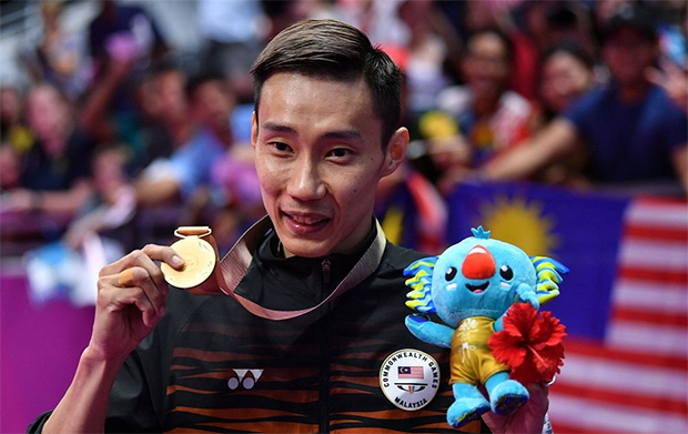 Lee Chong Wei claims Malaysia's first gold medal in badminton at the 2018 Commonwealth Games in Gold Coast, Australia.