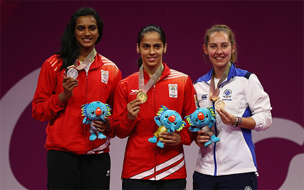 Congratulations to Saina Nehwal and PV Sindhu for winning gold and silver at the 2018 Commonwealth Games in Gold Coast, Australia. (photo: AP)