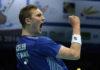 Viktor Axelsen wins the 2018 European Championship. (photo: Badminton Europe/Mark Phelan)
