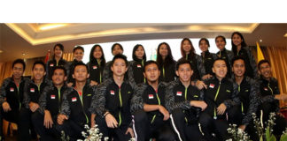 Shuttlers for Indonesia's 2018 Thomas Cup and Uber Cup team. (photo: PBSI)