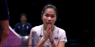 Ratchanok Intanon inspires other Thailand women's shuttlers to do well in the Uber Cup semi-final. (photo: AFP)