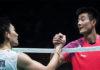 Kento Momota to face Chen Long in the Thomas Cup final. (photo: AFP)