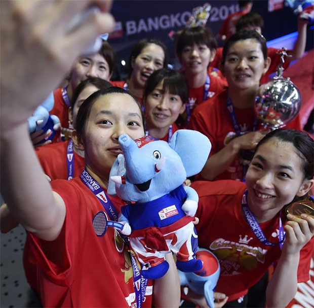 Congratulations to Japan for winning the 2018 Uber Cup. (photo: AP)