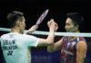 Lee Chong Wei meets Kento Momota in the Malaysia Open final. (photo: AP)