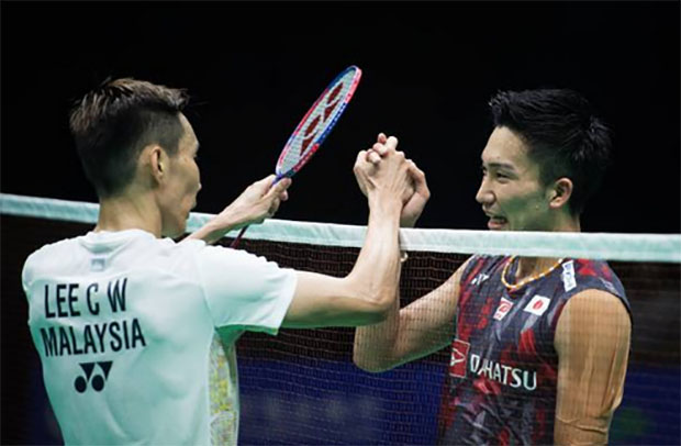 Lee Chong Wei meets Kento Momota in the Malaysia Open final. (photo: AP)