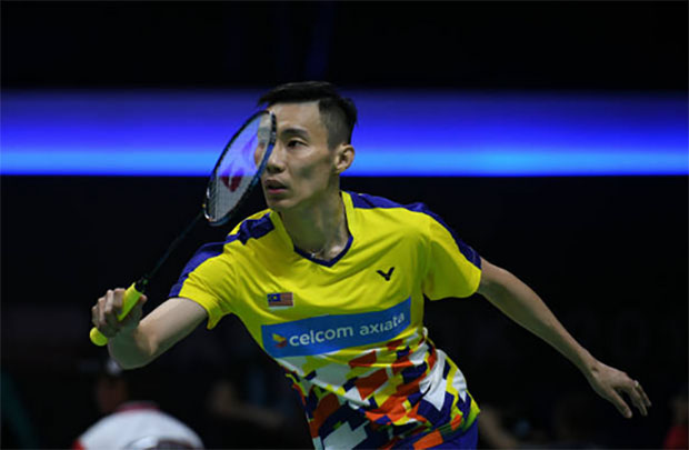 Lee Chong Wei plays faster than average during the Thomas Cup final. (photo: AP)