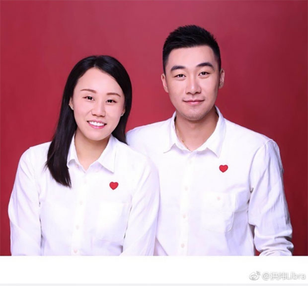 Congratulations to Zhao Yunlei and Hong Wei. May their married life be full of fun, love joy and laughter! (photo: Zhao Yunlei's social media page)