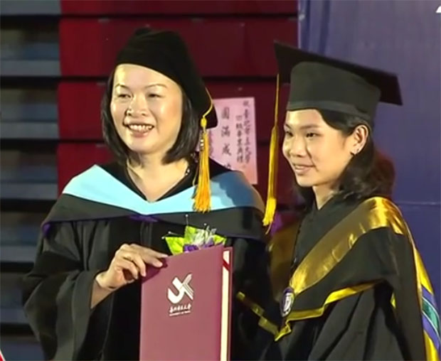 Congratulations to Tai Tzu-ying on getting her master degree. (photo: Facebook)