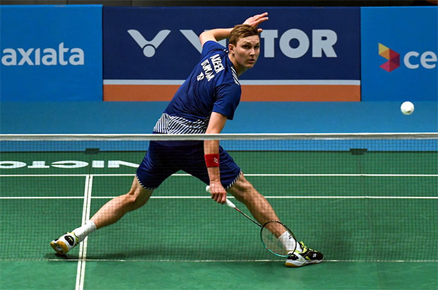 Viktor Axelsen confident his form will pick up following a slow start at the Malaysia Open. (photo: Bernama)