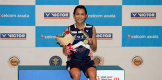 Tai Tzu Ying extends her win streak to 24 matches with the Malaysia Open triumph. (photo: AP)