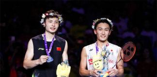 Kento Momota captures the 2018 world badminton title. (photo: AFP)