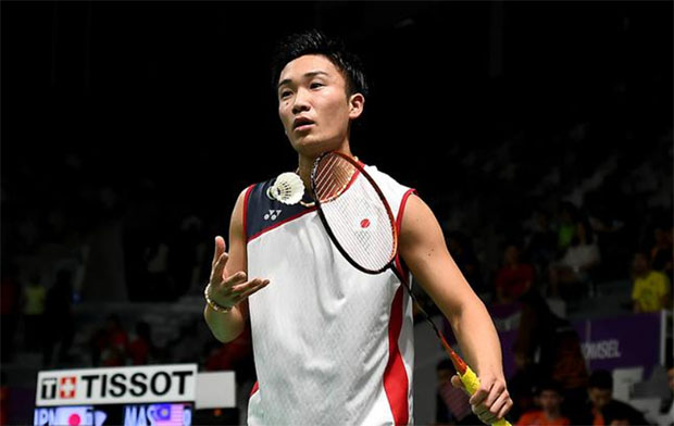 Kento Momota on track to become world's best badminton player. (photo: AFP)