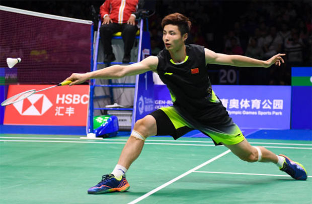 Shi Yuqi has become one of the world's top badminton players. (photo: AFP)