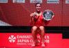 Carolina Marin wins the 2018 Japan Open title. (photo: AFP)