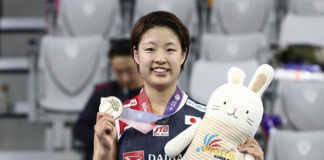 Congratulations to Nozomi Okuhara for winning the 2018 Korea Open. (photo: AFP)