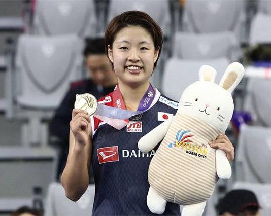 Congratulations to Nozomi Okuhara for winning the 2018 Korea Open. (photo: AFP)