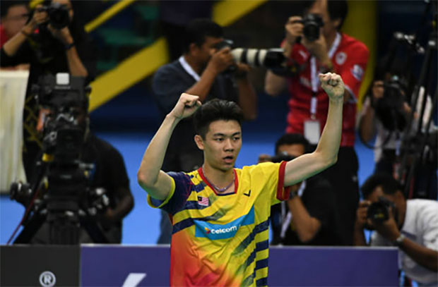 Lee Zii Jia is one win away from his first title of the season. (photo: AFP)
