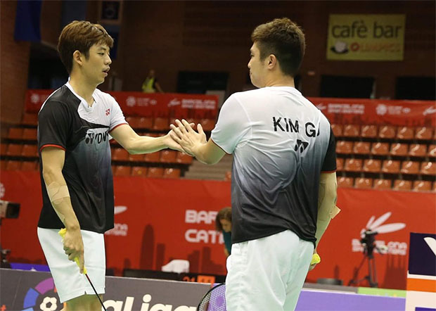 Lee Yong-Dae/Kim Gi-Jung look to continue momentum at the Macau Open quarter-finals. (photo: AFP)