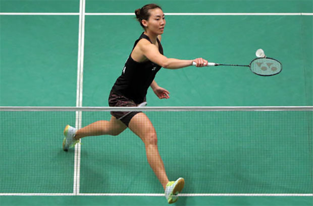 Michelle Li fights her way into the Macau Open final. (photo: AFP)